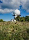 FAA Air Traffic Control Radar. Bedford County, VA – September 26th: View of the FAA Traffic Control Radar at the summit of Apple Orchard Mountain located stock photos