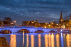 Bedford embankment. The Bedford bridge over the Great Ouse in Bedford Stock Photography