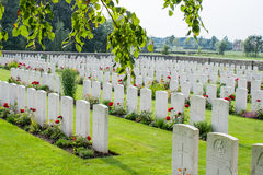 The Bedford House Cemetery world war one Ypres Flander Belgium Stock Photo