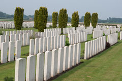 The Bedford House Cemetery world war one Ypres Flander Belgium Royalty Free Stock Photos