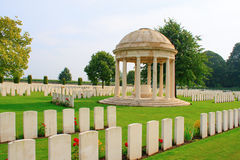 The Bedford House Cemetery world war one Ypres Flander Belgium Stock Image