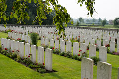 The Bedford House Cemetery world war one Ypres Flander Belgium Royalty Free Stock Images