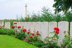 The Bedford House Cemetery world war one Ypres Flander Belgium Stock Images