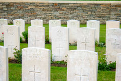 The Bedford House Cemetery world war one Ypres Flander Belgium Royalty Free Stock Photography
