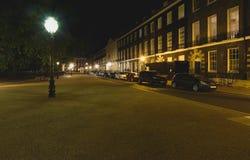 Bedford kwadrat Londyn nocą A obraz royalty free