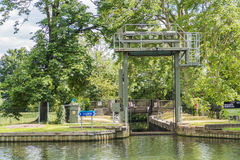 Bedford Lock on the River Great Ouse Stock Photos