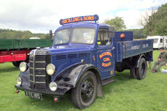 1950 Bedford M commercial truck. A vintage 1950 Bedford commercial truck once used by the National Coal Board on display at Cromford Steam Rally, Tansley stock image