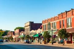 Bedford Ohio van de binnenstad Stock Foto's