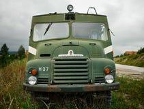 Bedford Old Green Fire Truck, Montenegro stockbild