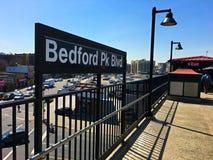 Bedford Park Blvd-U-Bahnstation im Bronx -2 stockfoto