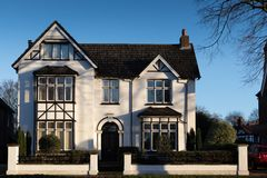 Bedford riverside house in Arts and Crafts style royalty free stock images