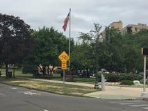 Bedford Street dans Stamford, le Connecticut Images libres de droits