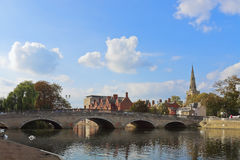Bedford town bridge. The town bridge in the central part of the Bedford, UK over the river Great Ouse Royalty Free Stock Photo