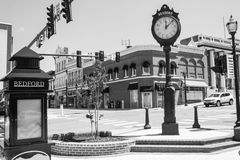 Bedford Town Clock, los E.E.U.U. Imagen de archivo