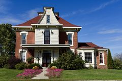 Bedford Victorian Farmhouse Lizenzfreies Stockbild