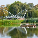 Bedford Winged Bridge. The Winged Bridge which crosses the Great Ouse in Bedford stock image