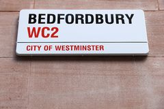 Bedfordbury, Londres Images libres de droits