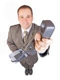 Bediende met telefoon Royalty-vrije Stock Foto's