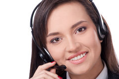 Bediener des Kundenkontaktcenters stockbild