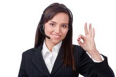 Bediener des Kundenkontaktcenters stockfotografie