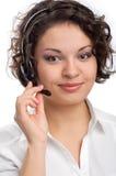 Bediener des Kundenkontaktcenters Stockfoto