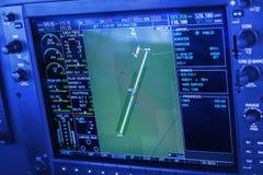 Bedienfeld in einem flachen Cockpit stockfoto