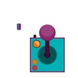 Bedieningshendel met knopen voor spelen stock illustratie