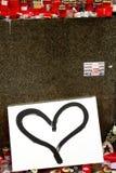 Bedienpult des Wenceslas-Denkmales mit Abbildungen Lizenzfreies Stockbild
