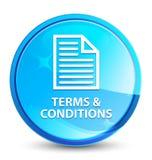 Bedingungen natürlicher blauer runder Knopf des (Seitenikone) Spritzens lizenzfreie abbildung