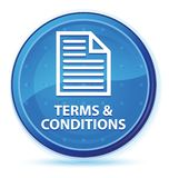 Bedingungen (Seitenikone) blauer runder Mitternachtshauptknopf lizenzfreie abbildung