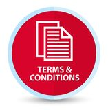 Bedingungen (Seitenikone) flacher roter runder Hauptknopf lizenzfreie abbildung