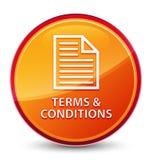 Bedingungen (Seitenikone) spezieller glasiger orange runder Knopf lizenzfreie abbildung