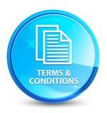 Bedingungen (Seitenikone) spritzen natürlichen blauen runden Knopf stock abbildung