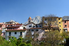 Bedizzano. Massa and Carrara province. Tuscany. Italy. Bedizzano is an Italian ancient village and a hamlet of the comune of Carrara. It is situated in the Apuan royalty free stock image