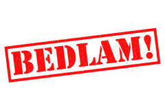 BEDLAM! Rubber Stamp Royalty Free Stock Images