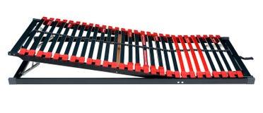 Bedlatjes voor latoflex - Bedkader en de oppervlakte van de matrasbasis Stock Afbeeldingen