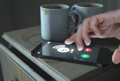 Bedlijst en Cellphone Stock Afbeelding