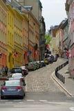 Bednarska街在华沙,波兰 免版税库存图片