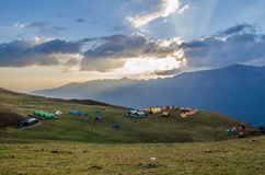 Bedni bugyal campsite Stock Image