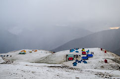 Bedni Bugyal Covered in Snow royalty free stock photos