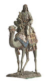 Bedouin. Bronze antiques statuette of bedouin on camel Royalty Free Stock Images