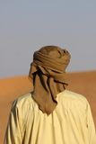 Bedouin. Lonely bedouin in the desert stock photography