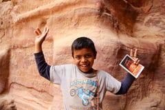 Bedouin boy, Jordan Stock Photo