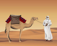 Bedouin and Camel Royalty Free Stock Images