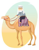 Bedouin on a camel Royalty Free Stock Photos