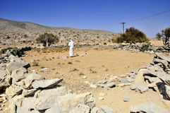 Bedouin Camp. Old bedouin camp in the region of Musandam, in Oman stock photos