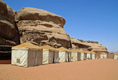 Bedouin camp in the desert Stock Image