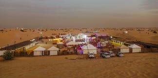 Bedouin camp in the Dubai desert stock photo
