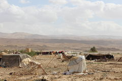 Bedouin camp in Jordan. This is a picture of beduin camp, located in Jordan desert Stock Photo
