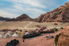 Bedouin camp resort near petra jordan Royalty Free Stock Photo